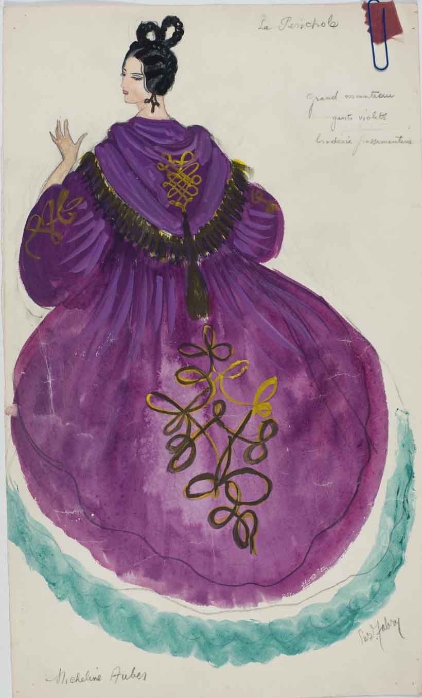 1956 La Monnaie costume design for La Périchole by Suzanne Fabry